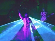 The Flaming Lips in a still from the group's new video for 'Space Oddity'